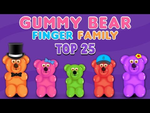 Gummy Bear Finger Family Song | Top 25 Finger Family Collection | Finger Family Songs