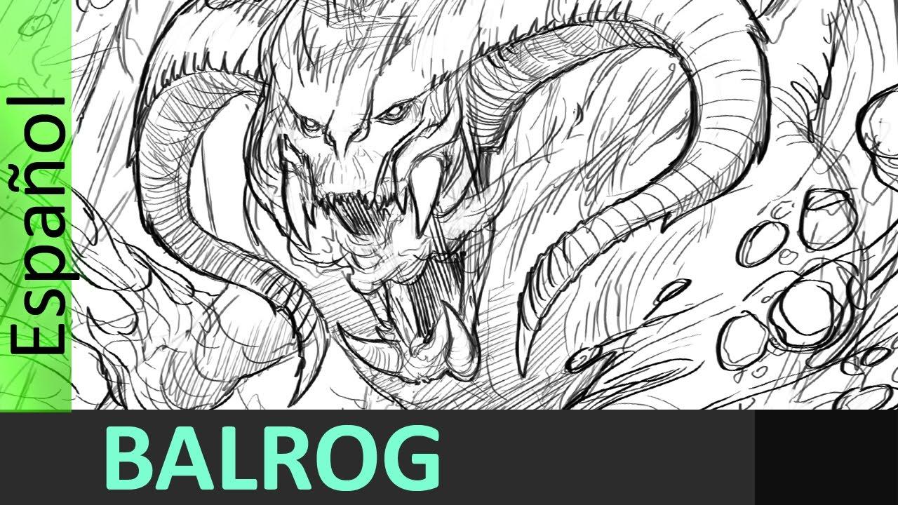 Dibujando un Balrog , señor de los anillos , Jesus Conde - YouTube