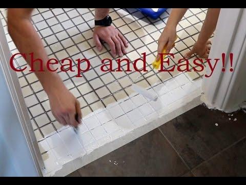 rustoleum tile transformation laundry renovation part 4