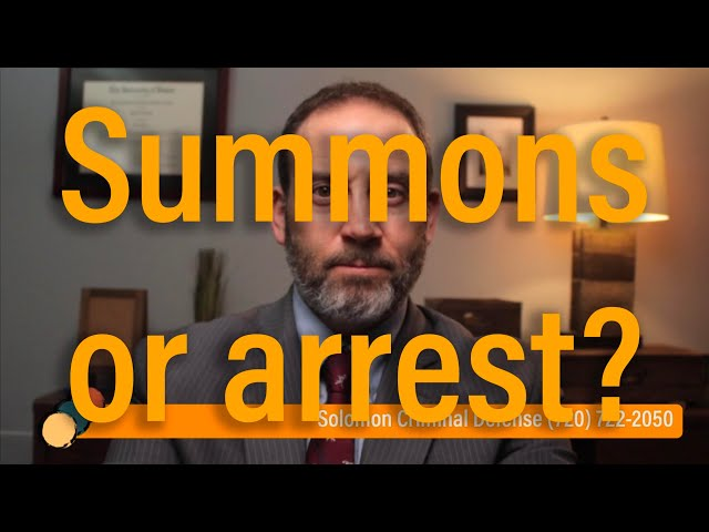 Should I meet an officer to get a summons? - Solomon Criminal Defense - Aurora, CO