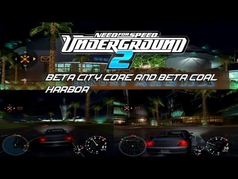 NFS Underground 2 Beta Map: City Core and Coal Harbor