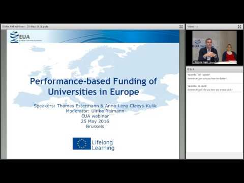 EUA Webinar: Performance-based funding of Universities
