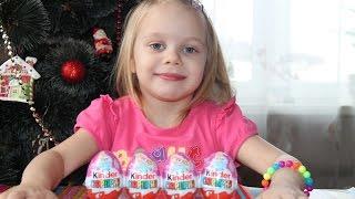 ✽ Киндер сюрприз яйца Disney Принцессы unpacking kinder surprise