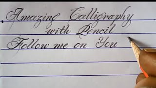 Hand writing with pencil | Pencil calligraphy | Mazic Writer thumbnail
