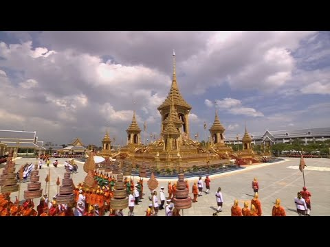 Raw: Late Thai King's Urn Arrives at Crematorium