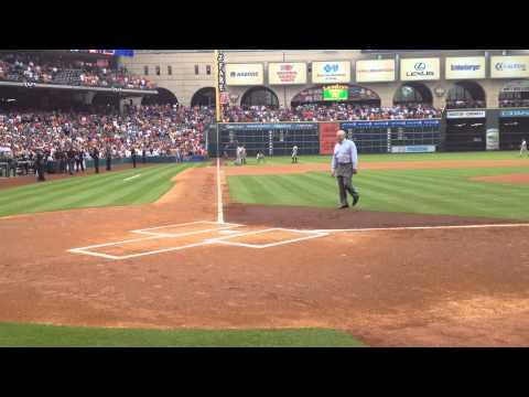 Nolan Ryan first pitch to Craig Biggio