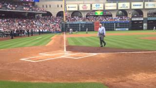 Nolan Ryan first pitch to Craig Biggio