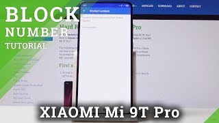 How to Block Number in XIAOMI Mi 9T Pro - Block Calls & Texts