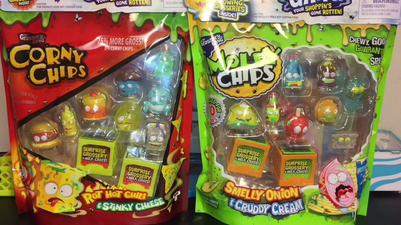New In Box The Grossery Gang Chunky Crunch /& Icky Pops Figures 2 Boxes