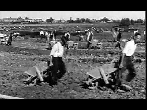1934: De aanleg van het Amsterdamse Bos te Amsterdam - oude filmbeelden