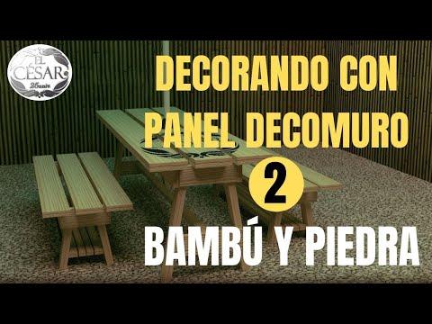 FACHALETA IMITACION DE PIEDRA Y BAMBU CON LOS PANELES