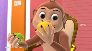 Bolo Bandar - Learn Fruits - 3D Animation Hindi Nursery rhymes for children