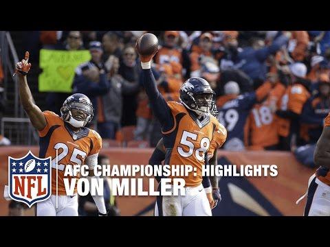 Von Miller Highlights (AFC Championship) | Patriots vs. Broncos | NFL