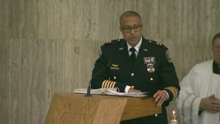Detroit Police Chief James Craig speaks at funeral for Sgt. Kenneth Steil