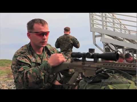 USMC Scout Sniper - Helo ride and Aerial Shoot with KAC M110 SASS