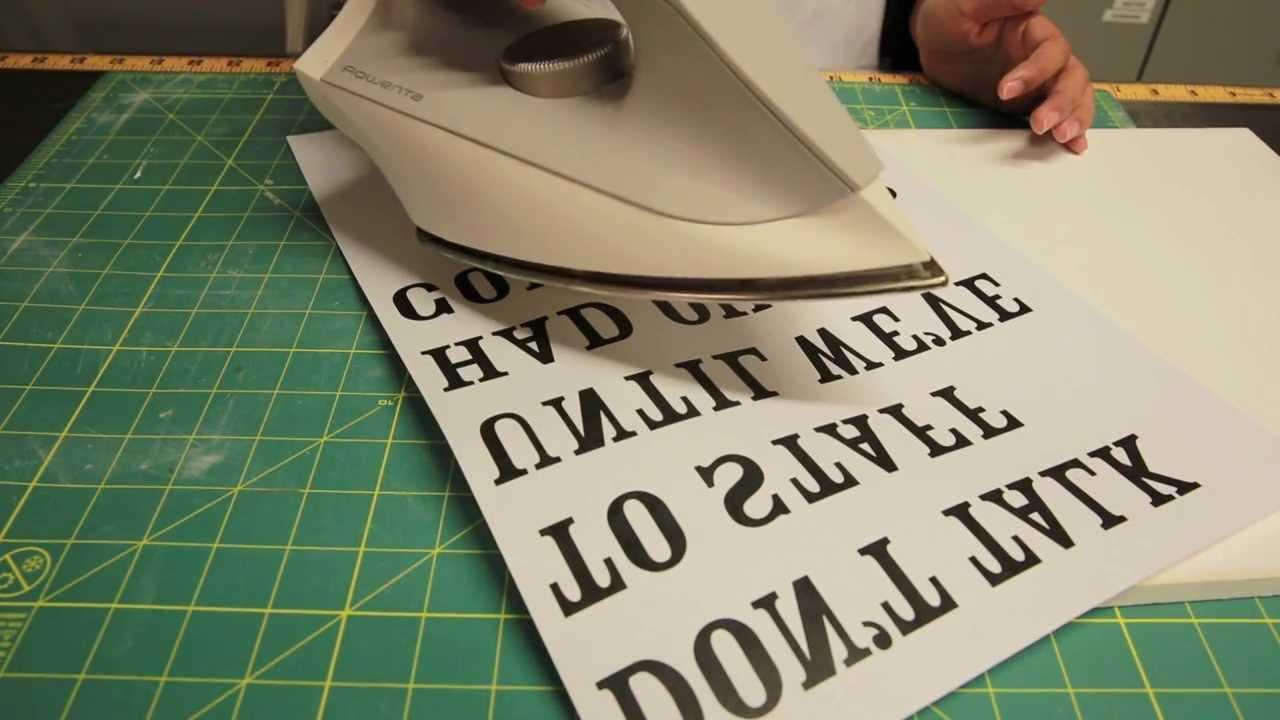 Paper Printable Iron Transfer