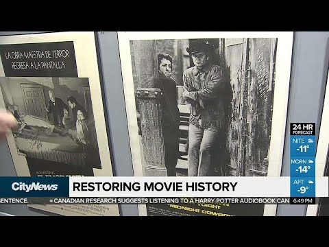 Film buff meticulously restores old movie posters