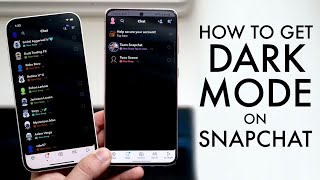 How To Turn On Dark Mode On Snapchat!