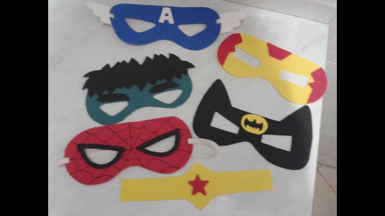 Como Fazer Mascaras De Super Herois Com E V A Youtube