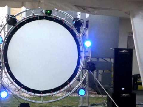 Pantalla circular venta o renta youtube for Pantalla para proyector