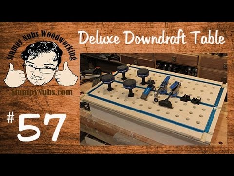 SNW57-Make a DELUXE downdraft sanding table with t-tracks for work holding and clamping