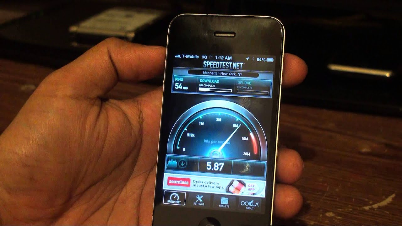 iPhone on Tmobile 3G Network Speed Test