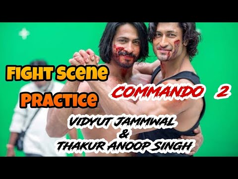 Vidyut Jammwal & Thakur Anoop Singh Fight Scene Shoot 4 Commando 2 Movie