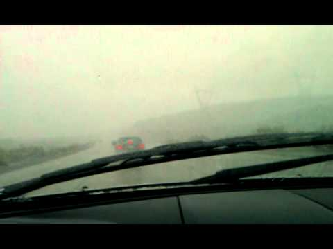 Snow in El Cajon Pass, Ca March 18, 2012