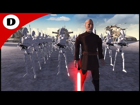 DOOKU CHARGES COMMANDER DEVIL'S FORT - Men of War: Star Wars Mod