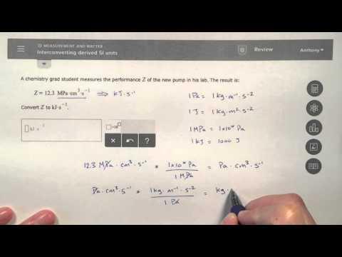 ALEKS - Interconverting Derived SI Units - In-Depth Explanation