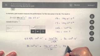 ALEKS - Interconverting Derived SI Units - In-Depth Explanation
