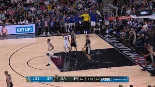 2nd Quarter, One Box Video: San Antonio Spurs vs. Golden State Warriors
