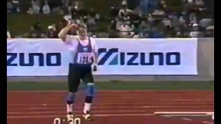 Seppo Räty's 91.98m world record javelin throw
