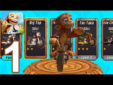 Nitro Chimp Grand Prix - Gameplay Walkthrough Part 1 (iOS, Android)