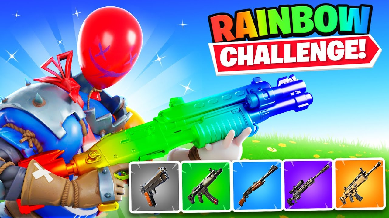 *NEW* RAINBOW BALLOON SKIN Challenge In Fortnite