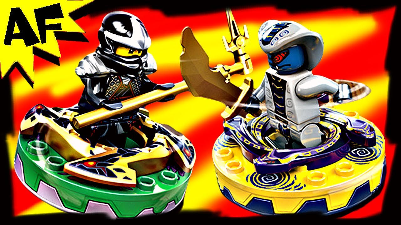 COLE vs RATTLA Lego Ninjago Spinner Battle & Starter Set Stop Motion Review  9579