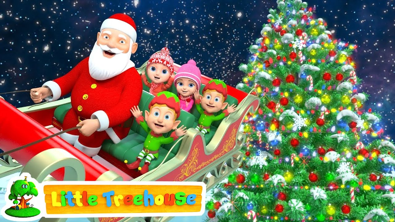 Jingle Bells Christmas Songs Nursery Rhymes Videos And Cartoons By Little Treehouse Youtube