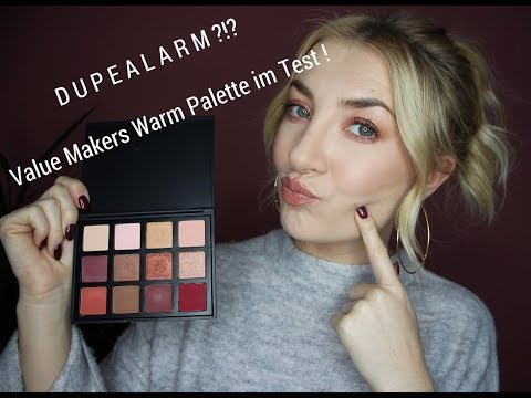 Dupe zu Huda Beauty/Anastasia Beverlyhills/Morphe?! First Impression Review Value Makers Palette