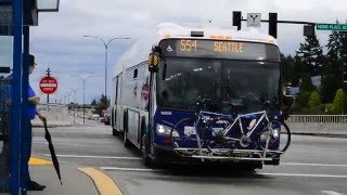 "Sound Transit 2014 New Flyer XDE60 ""Xcelsior"" Hybrid Artic 9655 On The 554"