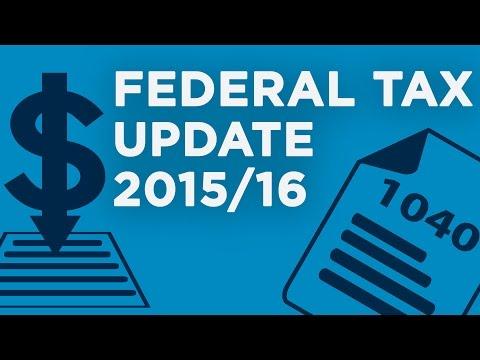 Federal Tax Update 2015/2016 | WEBINAR