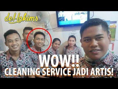 WOW...!! Cleaning Service Jadi Artis