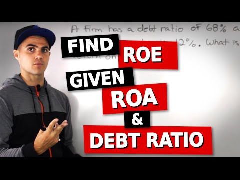 FIN 300 - Finding ROE given ROA and Debt Ratio - Ryerson University