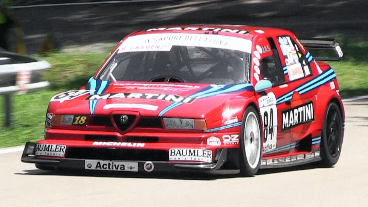 insanely loud 1996 alfa romeo 155 v6 ti screaming on hill. Black Bedroom Furniture Sets. Home Design Ideas