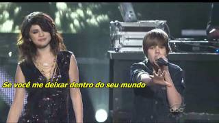 Justin Bieber, Selena Gomez - One Less Lonely Girl (ao vivo): Tradução e legendas