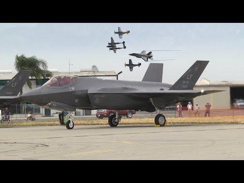 'USAF Heritage Flight' Planes of Fame Airshow 2017