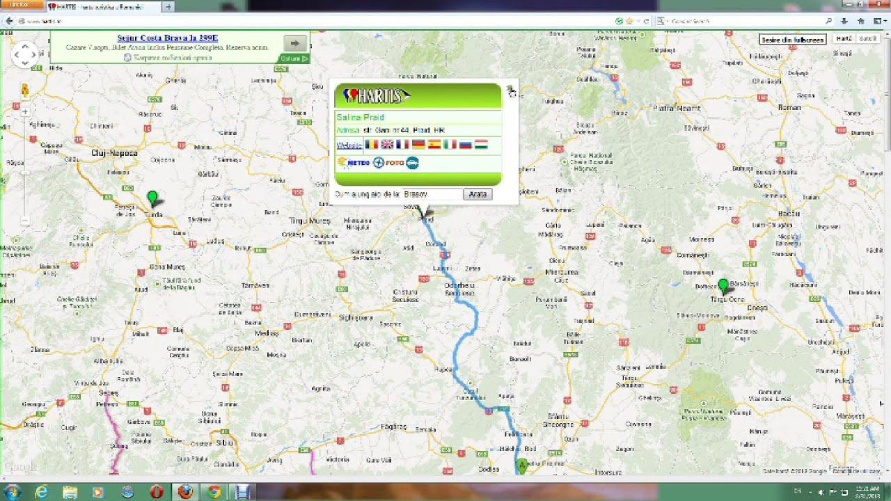 Harta Cu Salinele Turistice Din Romania Youtube