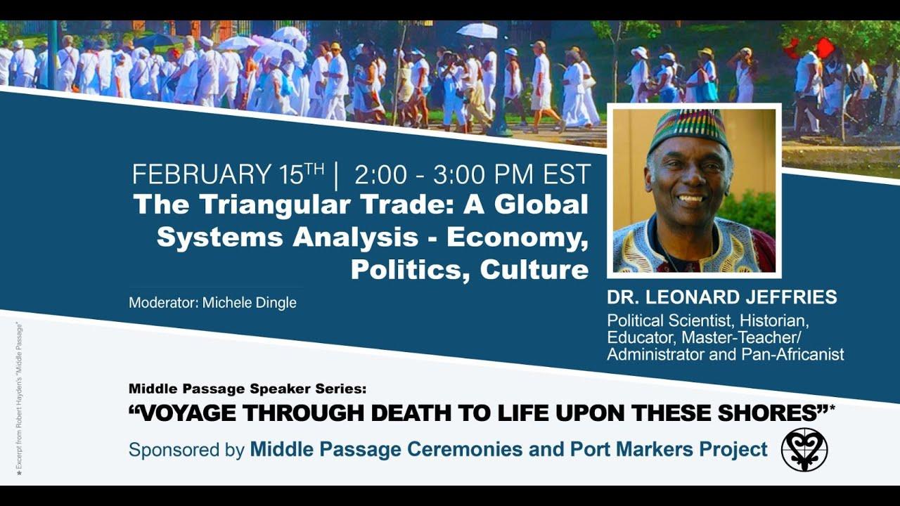 The Triangular Trade: A Global Systems Analysis - Dr. Leonard Jeffries | 15 Feb 2021