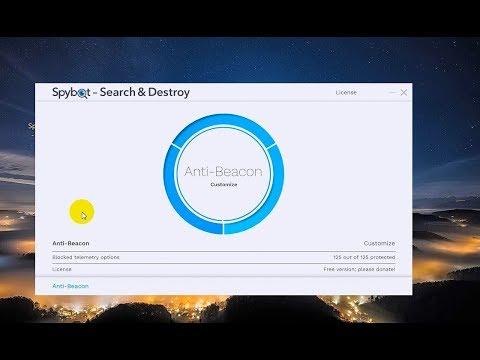 Удалить ВСЕХ ШПИОНОВ Spybot Anti Beacon For Windows 7,8,10  №2