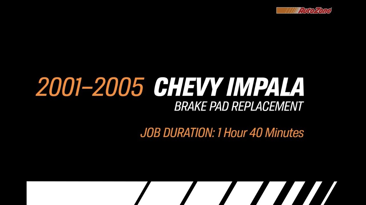 How to Replace Brake Pads on a Chevy Impala - 2001-2005 - Make Model Series