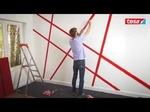 Tesa Diy Tipp Moderne Wandgestaltung Mit Abklebetechnik Youtube